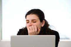 Schlafen bei der Arbeit Lizenzfreies Stockfoto