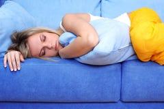 Schlafen der jungen Frau Lizenzfreies Stockfoto