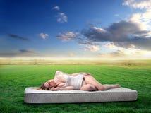 Schlafen in der Natur Lizenzfreies Stockbild