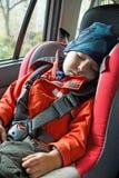 Schlafen des kleinen Jungen Lizenzfreies Stockbild