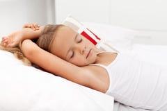 Schlafen des kleinen Mädchens Stockfotografie