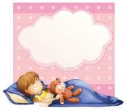 Schlafen des kleinen Mädchens stock abbildung