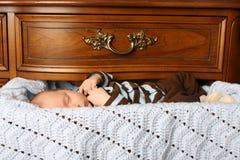 Schlafen im Fach stockfoto