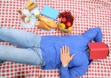 Schlafen im Picknick lizenzfreie stockbilder