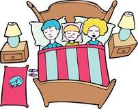 Schlafende Familie Lizenzfreie Stockfotos