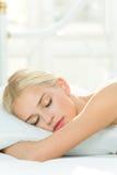 Schlafende Frau Lizenzfreies Stockbild