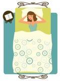 Schlafende Frau Lizenzfreies Stockfoto