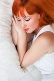 Schlafende Frau Stockfoto