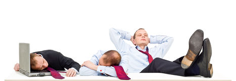 Schlafende Geschäftsmänner Lizenzfreies Stockbild
