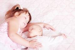 Schlafende Kinder Stockfoto