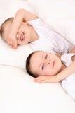 Schlafende Kinder Stockfotos