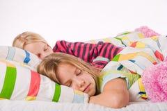 Schlafende Schwestern Lizenzfreie Stockbilder
