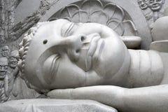 Schlafender Buddha Stockbild
