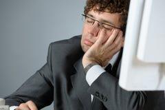 Schlafender Geschäftsmann Stockfotos