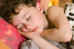 Schlafender Junge Stockfotos