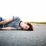 Schlafender Kerl Lizenzfreies Stockfoto
