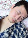 Schlafender Mann Stockfotos