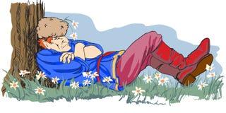 Schlafender Russe stock abbildung