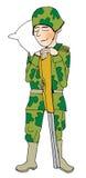 Schlafender Soldat Lizenzfreie Stockbilder