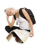 Schlafender Tourist Stockfotografie