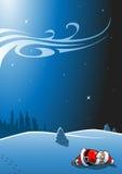 Schlafender Weihnachtsmann Stockfotos