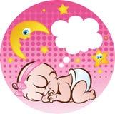 Schlafendes Baby Stock Abbildung