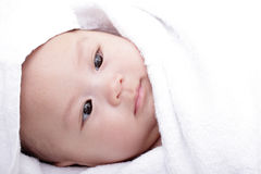 Schlafendes Baby Stockfoto