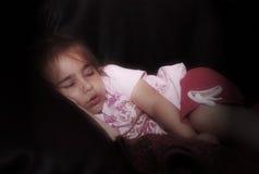 Schlafendes kleines Mädchen Lizenzfreies Stockfoto