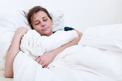 Schlafendes Mädchen Lizenzfreies Stockbild