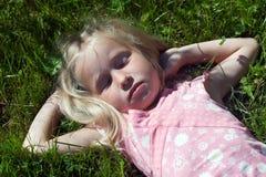 Schlafendes Mädchen Lizenzfreie Stockbilder