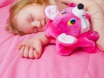 Schlafendes Mädchen Stockbilder