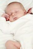 Schlafendes neugeborenes Schätzchen Stockfotografie