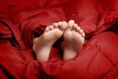 Schlafenfüße Lizenzfreies Stockfoto