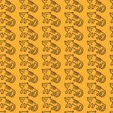 Schlafenkatze-Muster Lizenzfreie Stockbilder