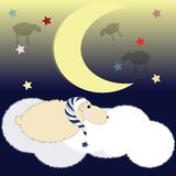 Schlafenschafe Stockbild