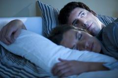 Schlaflosigkeit Stockfoto