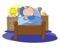 Schlaflosigkeit lizenzfreie abbildung