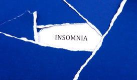Schlaflosigkeits-Blau Stockfotos