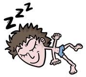 Schlafmann Stockfoto