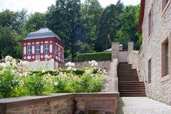 Schlafsaalraum in einem Kloster, Kloster Eberbach in Deutschland, Hessen Lizenzfreies Stockbild