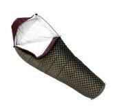 Schlafsack benutzt, um warm zu halten auf Camping-Ausflügen lizenzfreies stockfoto