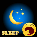 Schlafsymbol Stockbild