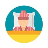 Schlafzeitpyjamas moon Ikonenvektorillustrationsbettzeichensymbol lokalisierte Traumschlafzimmerschlafenszeit-Haarpyjamas Stockbilder