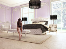 Schlafzimmer vektor abbildung