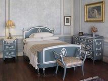 Schlafzimmer-Dame Pellat in der Casa LOMA, Toronto lizenzfreies stockfoto
