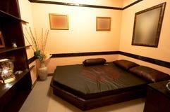 Schlafzimmer in der japanischen Art stockfotos