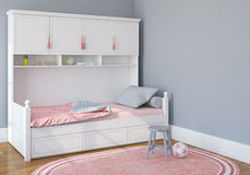 Schlafzimmer der Kinder lizenzfreie abbildung