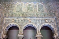 Schlafzimmer der maurischen Könige im wirklichen Alcazar Lizenzfreie Stockbilder