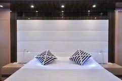 Schlafzimmer des Segelboots Stockfoto