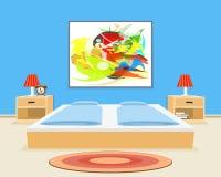 Schlafzimmer-Hintergrund Lizenzfreie Stockfotos